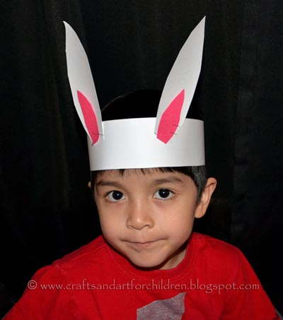 how to make a bunny ears headband preschool craft artsy momma