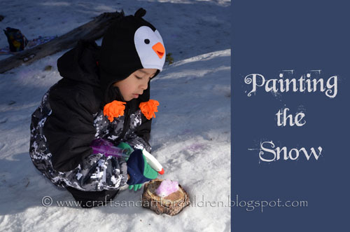 painting the snow activity for kids
