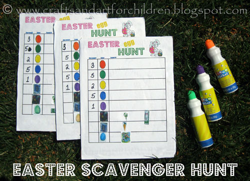 Easter Egg Scavenger Hunt - free printable