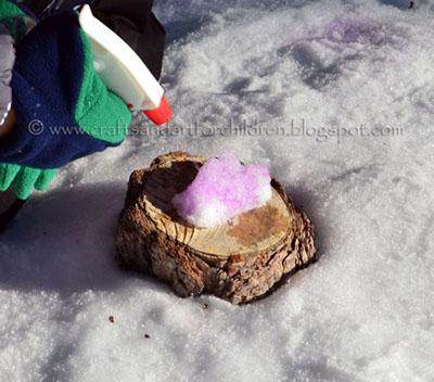 spray painting snowballs activity