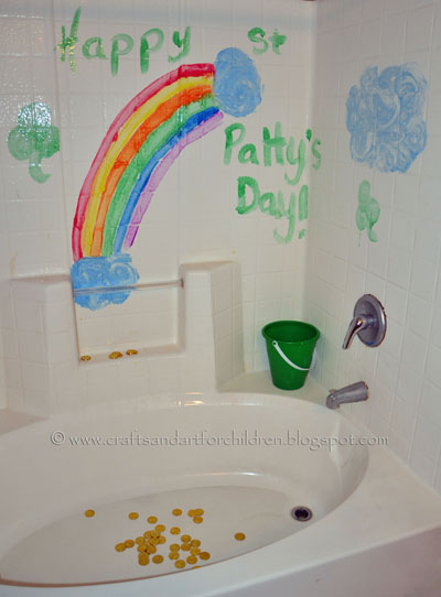 End of the Rainbow Gold Coin Bathtub Play Activity