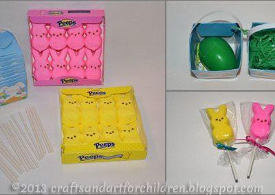 Peeps on a Stick Pops – Adorable Easter Party Favor