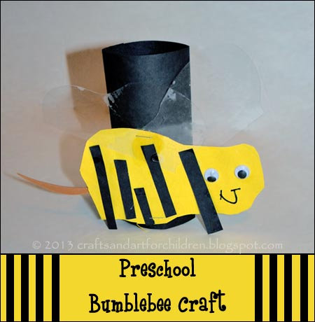 Preschool Bumblebee Craft, Bee Crafts