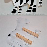 Clothespin Zebra Craft for Kids