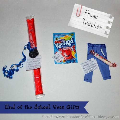 End of the School Year Gifts from Teachers