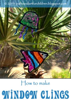 How to make Window Clings with Kids