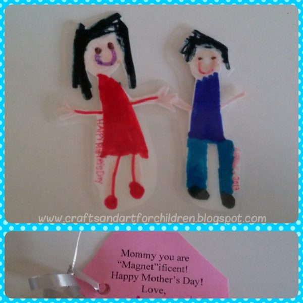Kid-made Mother's Day Gift: Mommy and Me Magnet Craft Idea