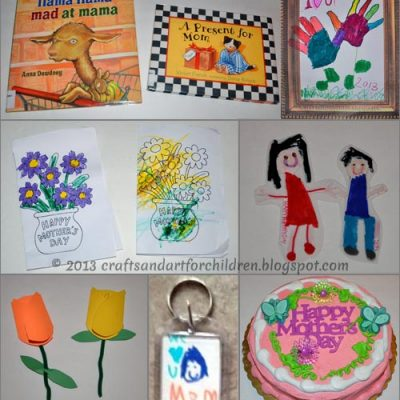 Mother's Day Crafts, Cards, + 2 Cute Books