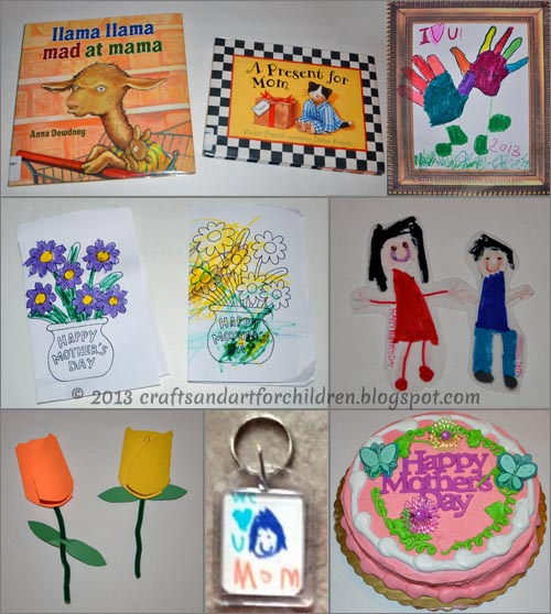 Mother's Day Kids Crafts, Cake, & Books