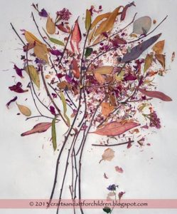 Spring Tree Craft Using Twigs and Items from Nature