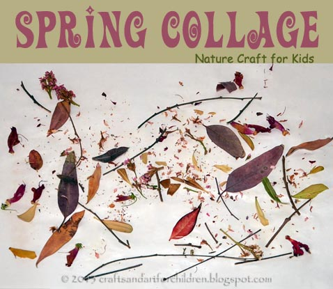 Toodler Art Project: Make a Nature-inspired Spring Collage