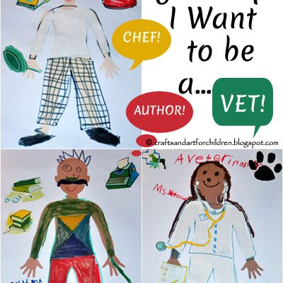 When I grow up I want to be ….. Kids Craft