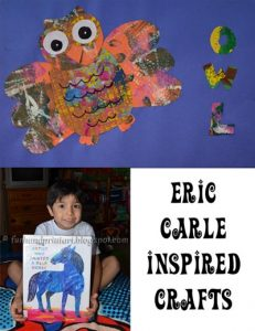 Eric Carle Craft for The Artist who Painted a Blue Horse