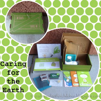 Caring for the Earth Crafts {Kiwi Crate Review}