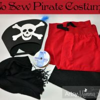 Homemade No Sew Pirate Costume for Kids {Pretend Play}