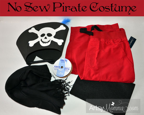 Homemade No Sew Pirate Costume for Kids {Pretend Play}
