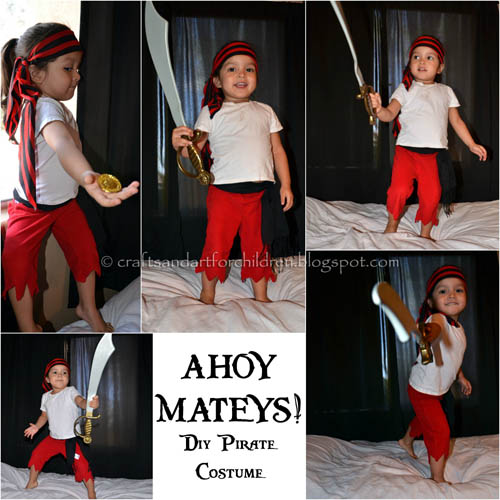 DIY Pirate Girl Costume for Halloween