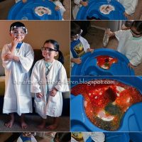 Easy Homemade Scientist Costume + Fizzing Kool Aid Experiment {Play & Learn}