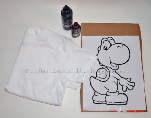 How to make Color-your-own t-shirts tutorial
