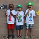 Mario Kart Playdate +a DIY Color-your-own T-shirt tutorial