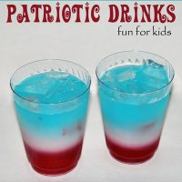 Red, White, & Blue Layered Kids Drink {4th of July}