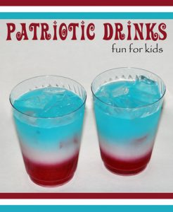 Red, White, and Blue Layered Kids Drink {4th of July}