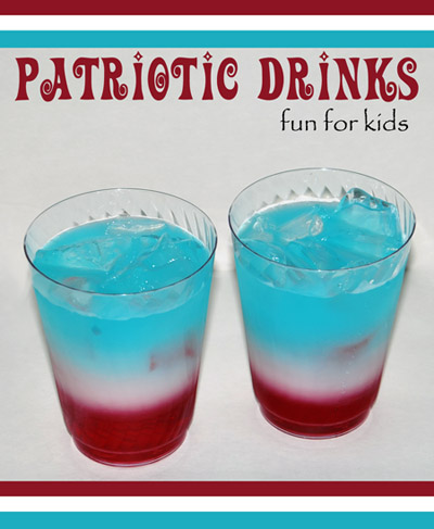 4th of July Drink for Kids - layering liquids science experiment