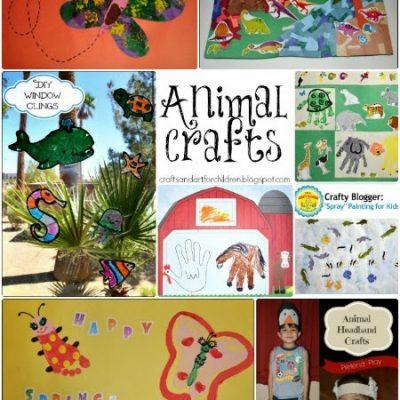 Animal Crafts for Kids {Round Up}