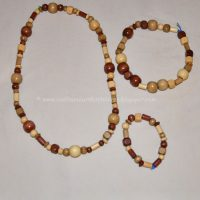 Necklace Craft for Kids Using Wood Beads