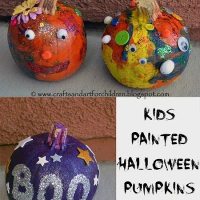 Pumpkin Painting - Decorating Pumpkins Activity