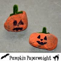 Pumpkin Paperweight – Stone Craft for Kids