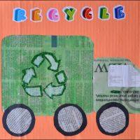 Recycling Truck Craft – Kids Newspaper Art