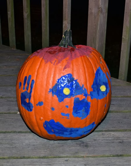 Kids Painted Pumpkin Craft