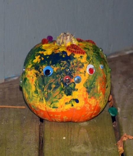 Toddler Painted Pumpkin Craft