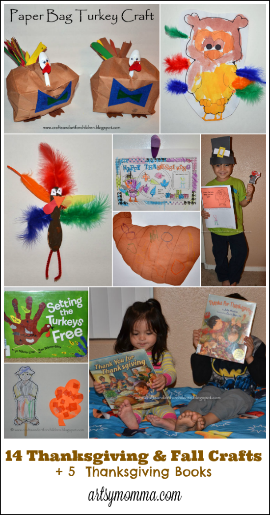 14 Thanksgiving and Fall Crafts for Kids + 5 Thanksgiving Books