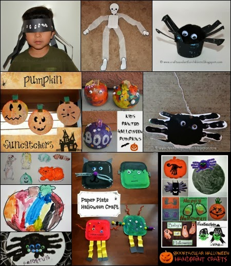 Halloween Crafts for Kids - TONS!