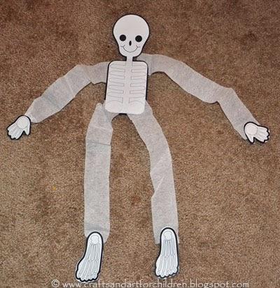 Skeleton - Halloween Crafts for Kids