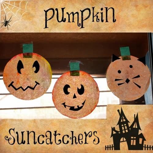 Pumpkin Suncatchers - Halloween Crafts for Kids