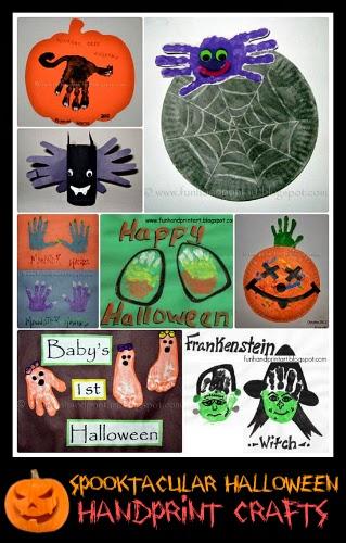 Spooktacualr Halloween Handprint Crafts for Kids