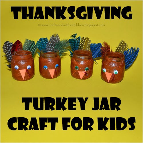 Recycled Baby Food Jar Turkey Craft For Kids