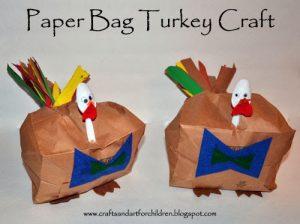 Paper Bag Stuffed Turkey Craft for Kids - Thanksgiving Activity