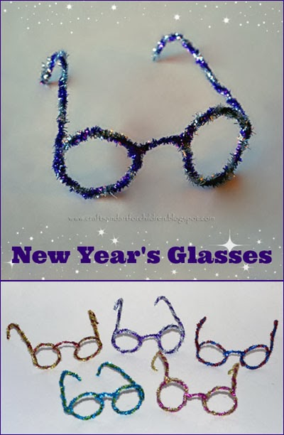 New Year's Pipe Cleaner Glasses