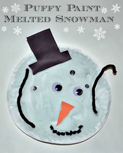 Melted Snowman (paper plate craft)  sc 1 st  Artsy Momma & Snow Adorable Puffy Paint Crafts - Artsy Momma