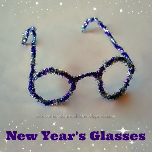 Pipe Cleaner Glasses for New Year's