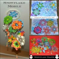 Snowflake Mobile & Winter Toddler Art Project