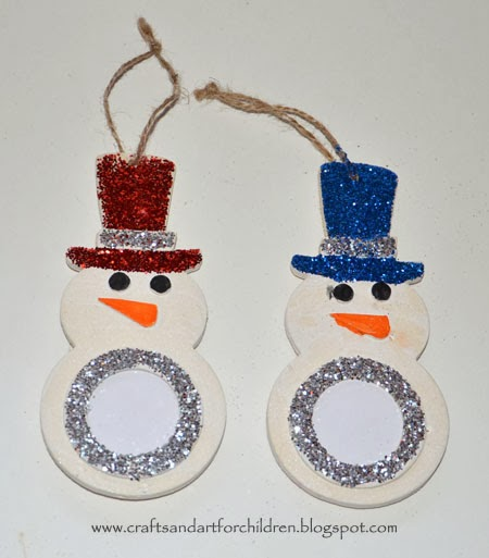 Christmas ornament crafts for kids artsy momma for Clear ornament snowman craft