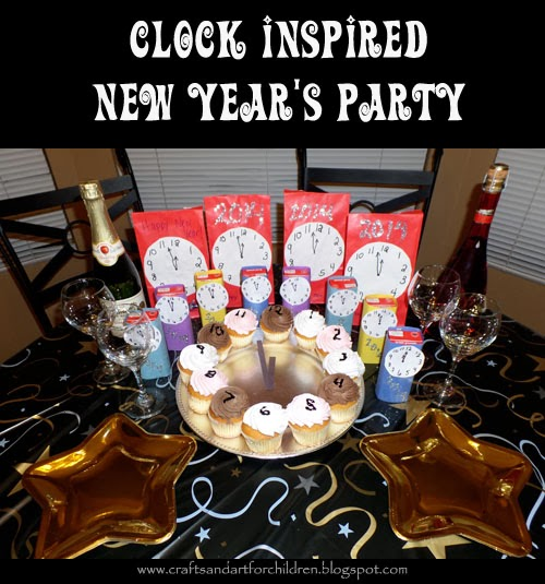 Clock-inspired New Year's Party for Kids and Adults