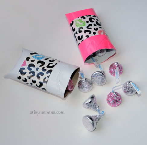 DIY Pillow Box Valentines - Duck Tape Craft