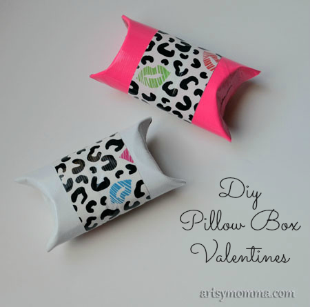 Duck Tape Craft | DIY Pillow Box Valentines