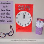 Clock Inspired New Year's Party with Kids